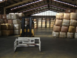 Forklift with Bale Clamps